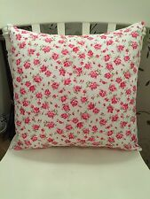 """Rose & Hubble Pink Roses Vintage Pretty Floral Cushion Cover 16"""" Shabby Chic"""