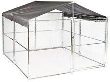 XXL Dog Kennel Cover Weather Guard Extra Large All Season Run Roof 10 x 10 ft