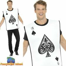 Carded Guard Tabard Wonderland Ace of Spades Mens Fancy Dress Costume