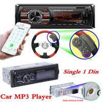 Bluetooth Car Radio Stereo Head Unit Player MP3/FM/USB/SD/TF AUX-IN w/SWC Remote