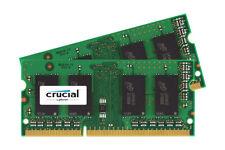 16GB Crucial DDR3 SO-DIMM PC3-12800 1600MHz CL11 1.35V Dual Memory Kit (2 x 8GB)