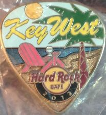 Hard Rock Cafe KEY WEST 2012 POSTCARD Series Guitar Pick PIN Post Card HR #68166