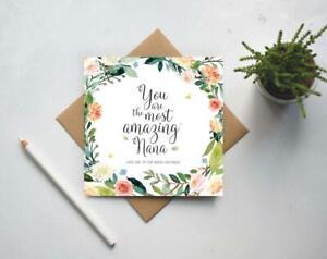 Card for Nana, Birthday card for Nana, Best Nana, Mothers Day card (GC170B)