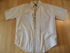 RAPLH LAUREN schönes Kurzarmhemd helles beige Gr. M NEUw. BSu516