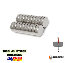 10x Super Rare Earth Disc Magnets 12mm x 5mm N42 | Strong Neodymium Fridge Art