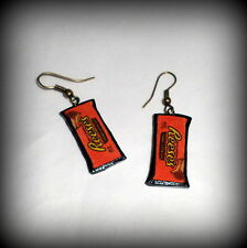 Handmade Reese's Peanut Butter Cups Polymer Clay Charm Earrings NEW
