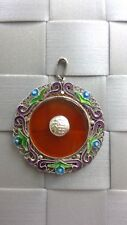 Round Colorful Glass Pendant for Necklace