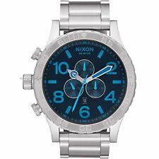 Nixon A0832219 51-30 Dark Blue Silver Chrono 51mm Men's Watch