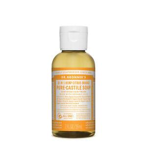 Dr Bronners Pure Castile Soap Liquid ( Hemp 18-in-1 ) Citrus 59ml - Vegan
