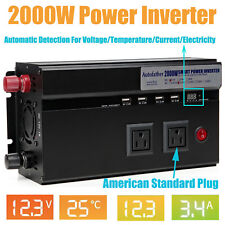 2000W Car Converter Power Inverter DC 12V to AC 110V invertor with USB Charger