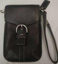 COACH Leather Mini Pouch Black NWT