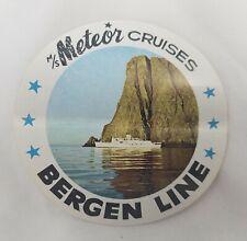 Meteor Cruises Bergen Line Vintage Luggage Label Travel Sticker