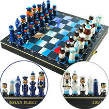 Army Chess Set Navy - Russian Army Navy Chess Board and Hand Painted Pieces