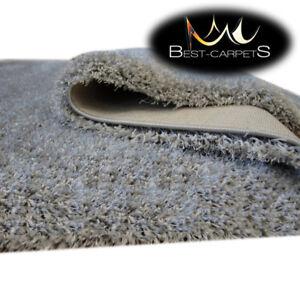 Dick, Weich und Dicht Teppich NARIN grau 5cm Teppiche nach Maß Große Größen