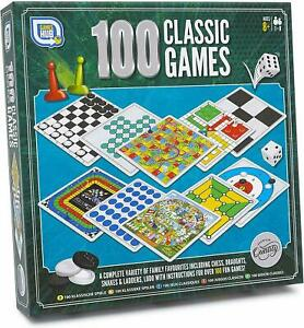 100 Classic Games Classic Family Board Games Compendium Draughts Chess Ludo