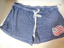 New New England Revolution Ladies Lounge Shorts Blue Size Medium Loose Fit MLS