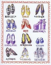 "Chaussures sampler cross stitch kit-dmc - 10"" x 13"""