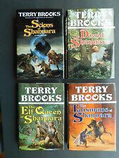 Lot 4 Shannara books Druid Elf Queen Talismans TERRY BROOKS 1st/1s SIGNED Scions