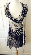 All Saints Giraffe Frannie Dress Wrap Dress Silk Size 6/34 *VGC* Rare