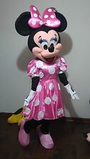 Disfraz ( costume, botargas, mascot) HERMOSA MINNIE MAUSE PINK TRAJE ADULTO