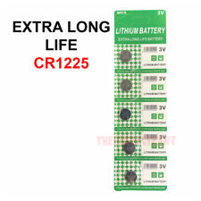 5 PCS New Lithium Battery 3V CR1225 /CR 1225 Button Cell Watch EXTRA LONG LIFE