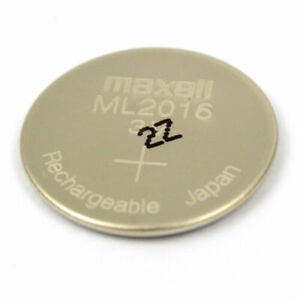 New 3v Maxell ML2016 ML 2016 Rechargeable Lithium CMOS RTC Battery