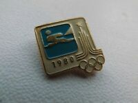 Vintage Soviet Pin Badge Olympics Moscow 1980 Olympic Games,Sailing,USSR