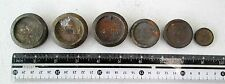 Old British Colonial Bronze Avery 6 Piece Weight Set