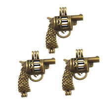 Antique Bronze Hollow Revolver Alloy Beads Cage Locket Charms Pendants 6pcs/lot