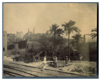 Egypte, Caire (القاهرة), Construction de la ligne de train  vintage citrate prin