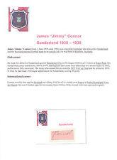 Jimmy Connor Sunderland 1930-1938 Rara Original Firmada A Mano cutting/card