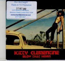 (DI478) Kitty Clementine, Blow That Horn - 2012 DJ CD