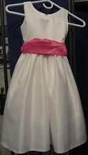 Girls Size 4 White Formal Sleeveless Wedding Dress Flower Girl Bridal Party
