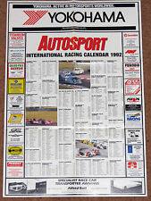 Autosport 1992 INTERNATIONAL RACING CALENDAR - F1 F3000 Sports & Touring Cars F3