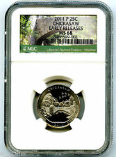 2011 P CHICKASAW QUARTER NGC MS68 UNCIRCULATED BUSINESS STRIKE EARLY RELEASES