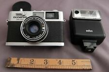 Olympus 35 RC Compact Rangefinder 35mm Film Camera - tested + Braun flash