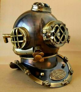 Antique Diving Helmet U.S Navy Mark V Scuba Deep SCA Antique Divers Helmet gitf