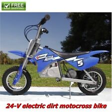 Electric Dirt Bike Mini Scooter 24V Rechargeable Battery Powered Ride On Toy New