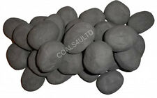 15 GREY GAS FIRE REPLACEMENT PEBBLES COALS STONES 60MMX 40 X 35MM RCF CERTIFIED