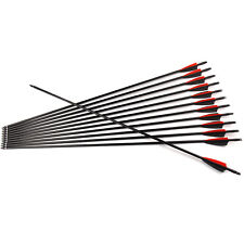 "12pcs 30"" Archery Fiberglass Arrow SP500 8.0mm Arrow Shaft F Composite bow"