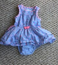 Cat & Jack Girl's Blue And Pink Sleeveless Dress With Bloomers Sz: 12 Months