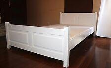 Doppelbett Bettgestell 140x200 weiß Bett Bettgestell Massivholz , Massimo weiss