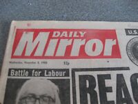 Is it Your Birthday on 5th November 1980 Daily Mirror  Newspaper