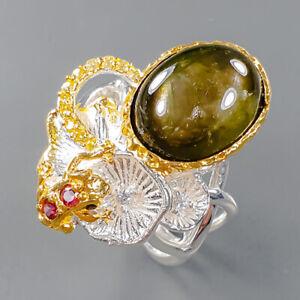 Gemstone Design  Black Star Sapphire Ring Silver 925 Sterling  Size 6.5 /R162221