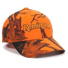 REMINGTON Country Mossy Oak BLAZE CAMO Camouflage Hunting Hat Safety Cap RM46L