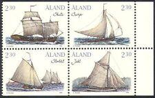 Aland 1995 Cargo Sailing Ships/Boats/Nautical/Sail/Transport 4v blk (n41573)