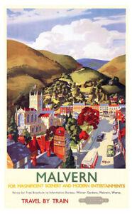 Vintage Malvern Art Print Railway Travel Poster A1/A2/A3/A4!