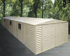 DuraMax Sheds 10.5' x 31' Vinyl Storage Garage Shed w/ Foundation Kit (01616)