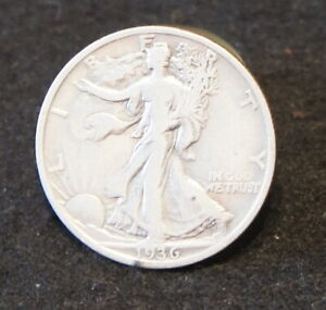 1936S Walking Liberty Half  Fine Condition Extremely Nice Coin!