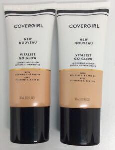 Set of 2 Covergirl Vitalist Go Glow Luminizing Lotions - 1 Daybreak - NIB - FS!